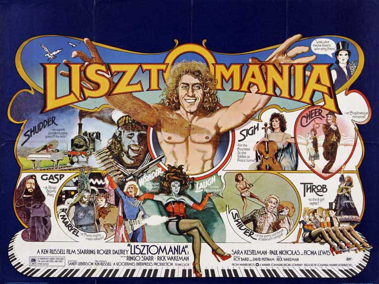 LISZTOMANIA movie promotion, UK. 1975