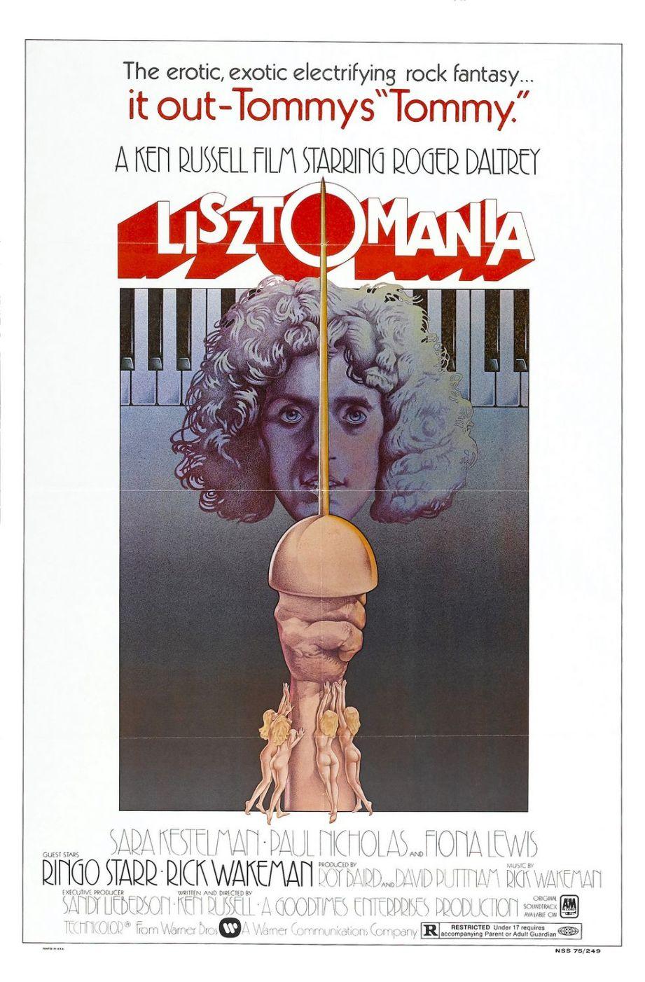 Uh, oh. Roger Daltrey is Franz Liszt. Ken Russell's LISZTOMANIA, 1975