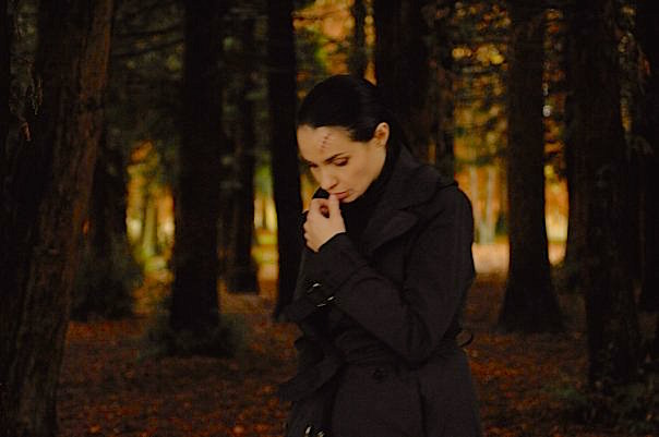 Beatrice Dalle's Nadia's love of mathematic theory sets the pace of her long walks in  Domain, Patric Chiha, 2009.  Cinematography | Pascal Poucet