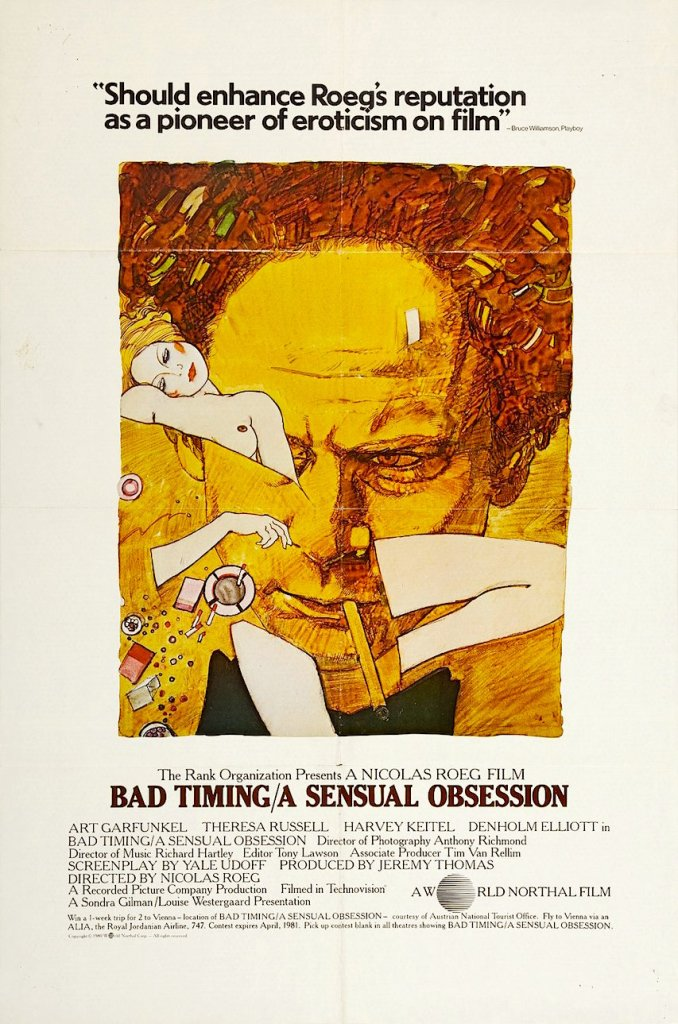 Bad Timing, Nicolas Roeg, 1980 Cinematographer | Anthony B. Richmond Film Editor | Tony Lawson
