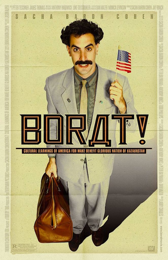 Many people were unaware that they were objects of satire and many were not paid. Borat: Cultural Learnings of America for Make Benefit Glorious Nation of Kazakhstan, Larry Charles, 2006. Cinematography | Luke Geissbuhler & Anthony Hardwick