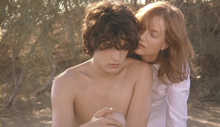 """The pleasure only begins the moment the worm is in the fruit."" Isabelle Huppert & Louis Garrel in Christophe Honoré's Ma Mere, 2004. Cinematography 