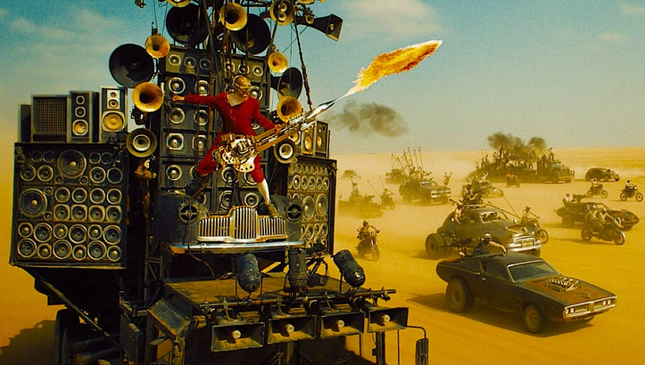 Apparently the Apocalypse will be accompanied by a very loud metal band. George Miller's Mad Max: Fury Road