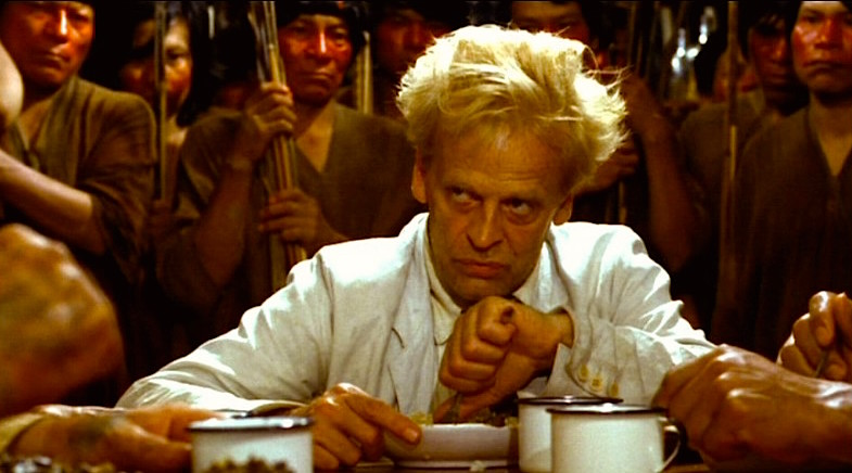 Klaus Kinski winning friends and influencing people.  Fitzcarraldo Werner Herzog, 1982 Cinematography | Thomas Mauch