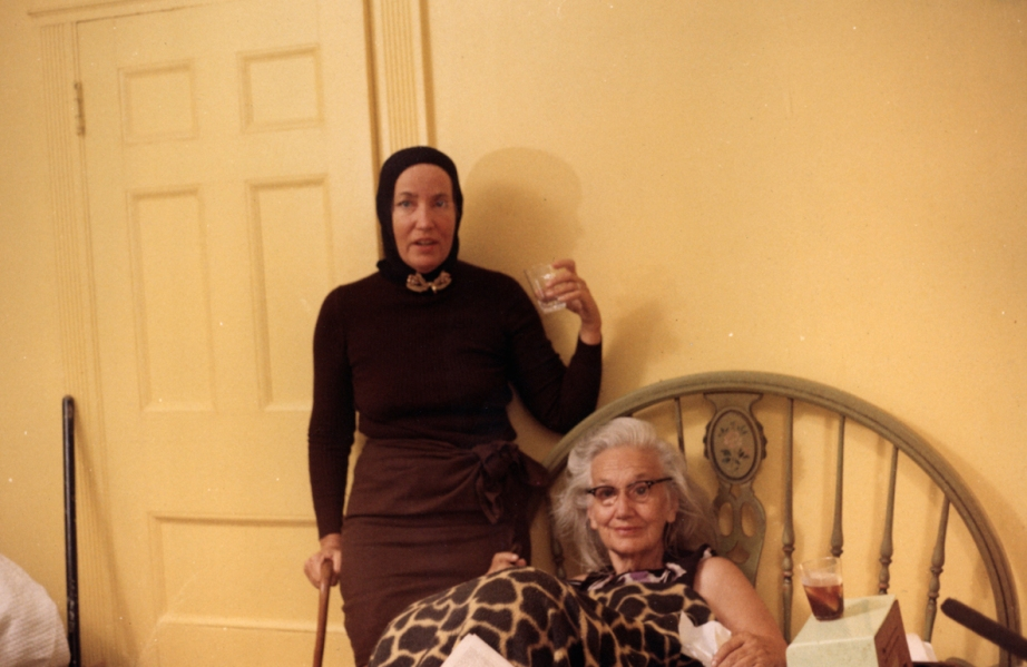 Little Edie wearing 'the best costume for the day' and Big Edie frustrating over where in the hell she thinks she is!  Grey Gardens Albert & David Maysles, 1975