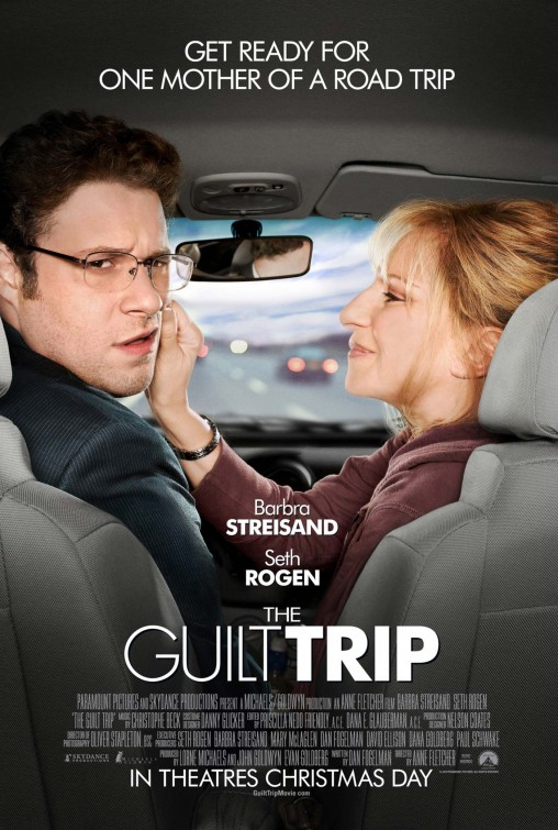 Seth Rogen and Barbra Streisand in Anne Fletcher's The Guilt Trip Cinematography: Oliver Stapleton