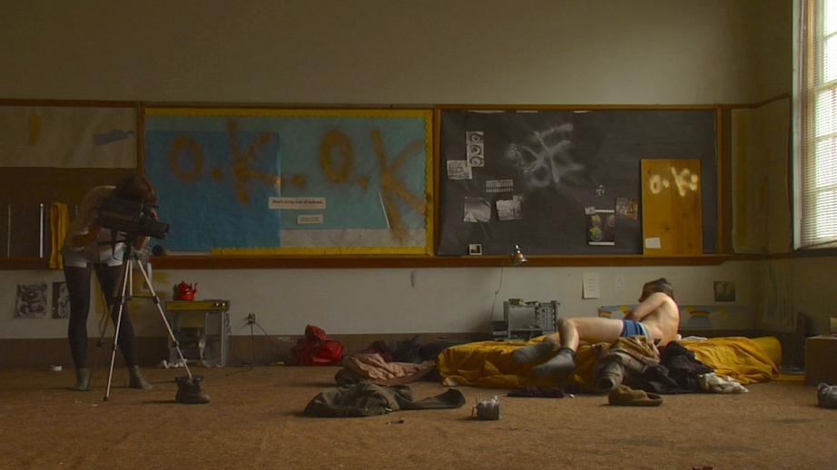 Eleonore Hendricks and Kentucker Audley try to fit into some part their culture's frame in  Bad Fever, Dustin Guy Defa, 2012.  Cinematography | Mike Gioulakis