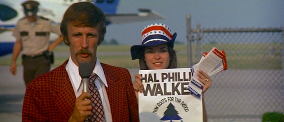 "Long before we had access to cyber ""search engines"" like IMDB, viewers could easily mistake actor, Bill Jenkins, as a ""real"" Nashville TV reporter.  Nashville, Robert Altman, 1975 Cinematography 