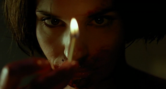Beatrice Dalle about to start a fire in The New French Extreme. Trouble Every Day, Claire Denis, 2001 Cinematography | Agnès Godard