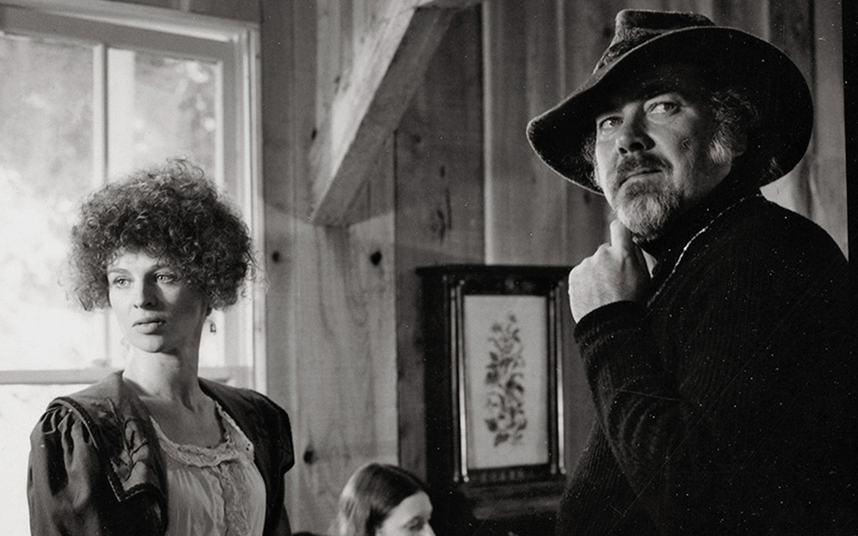 Largely credited with  reinvented the language of cinema, Robert Altman working with Julie Christie on the set of McCabe & Mrs. Miller in 1970. Photographer unknown to me.