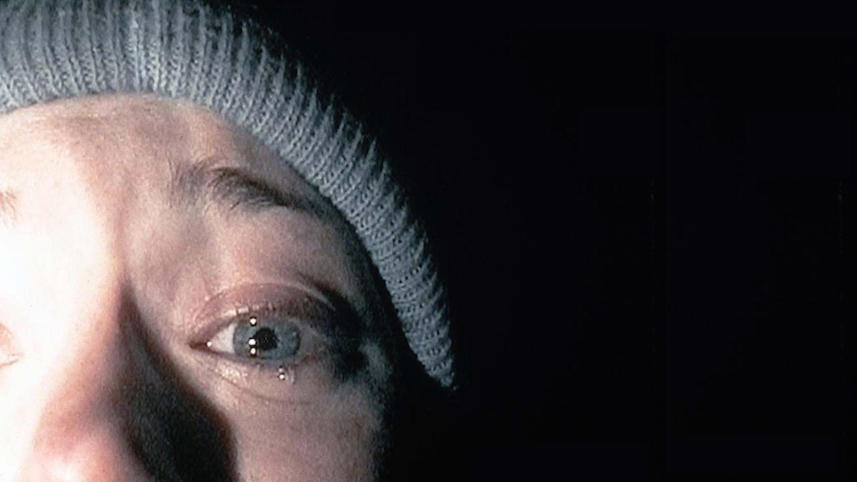 This screenshot of Heather Donahue became iconic within less than a week of the release of The Blair Witch Project, Daniel Myrick & Eduardo Sánchez, 1999.