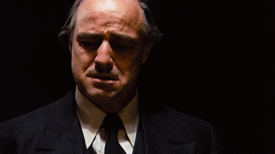 "Marlon Brando as The Godfather. Francis Ford Coppola, 1972 Cinematography: Gordon Willis ...just barley ""fresher"" than Mad Max: Fury Road"