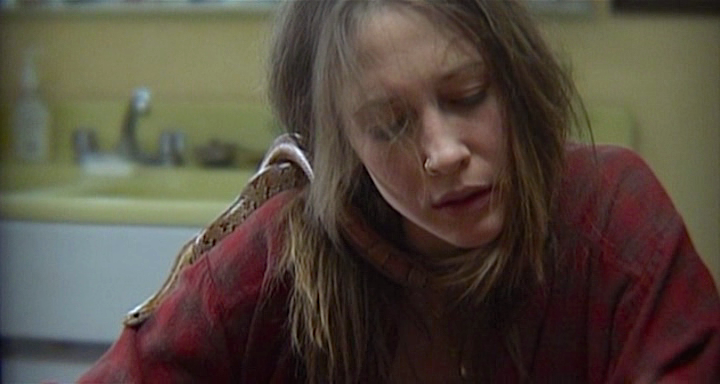 Vera Farmiga's performance as Irene takes on bleary and almost horrifying level of reality in Down to the Bone, Debra Granik, 2004. Cinematography | Michael McDonough
