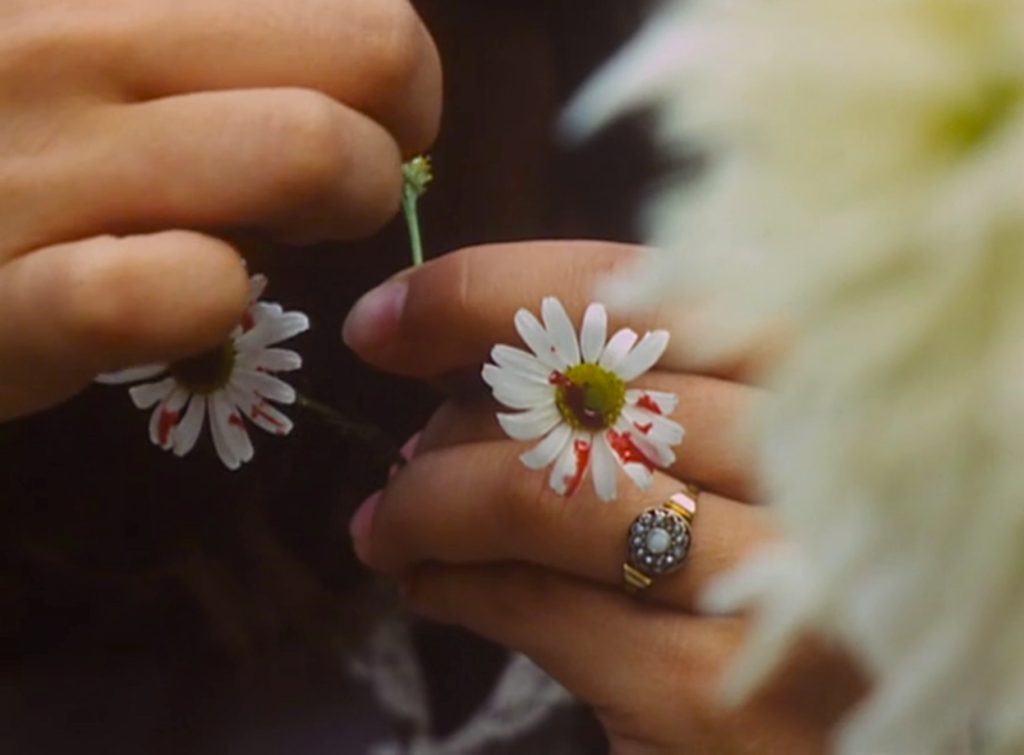 A First Menses has never appeared this easy or so pretty as Valerie admires her blood drips on the daisies.  Valerie and her Week of Wonders Jaromil Jires, 1970 Jan Curík | Cinematography