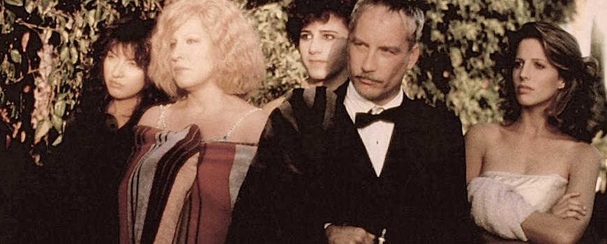 But, why won't he stay? We gave him such nice clothes and sex? Elizabeth Peña, Bette Midler, Evan Richards, Richard Dreyfuss and Tracy Nelson  Down and Out in Beverly Hills Paul Mazursky, 1986 Cinematograhy | Donald McAlpine