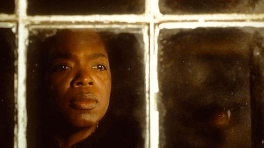 "Sethe looks out of her cursed home and sees far more than ""reality"" -- she still sees her past hiding, slumbering and waiting to return to reclaim itself or to seek vengeance. For Sethe, there is no peace.  Oprah Winfrey Beloved Jonathan Demme, 1998 Cinematography 