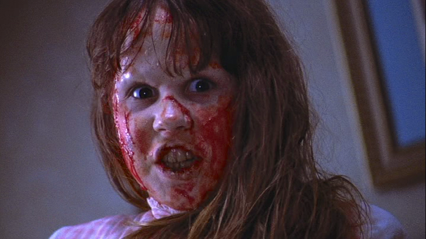"""""""Do you know what she did, your cunting daughter?"""" Linda Blair inciting heart attacks and long lines at the box office. The Exorcist William Friedkin, 1973"""