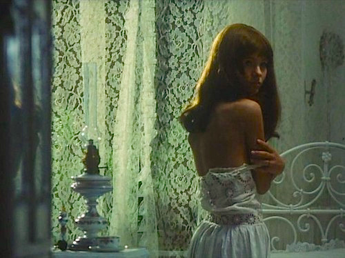 Valerie in the privacy of her innocent room strikes an alluring pose.  Valerie and her Week of Wonders Jaromil Jires, 1970 Cinematography | Jan Curík