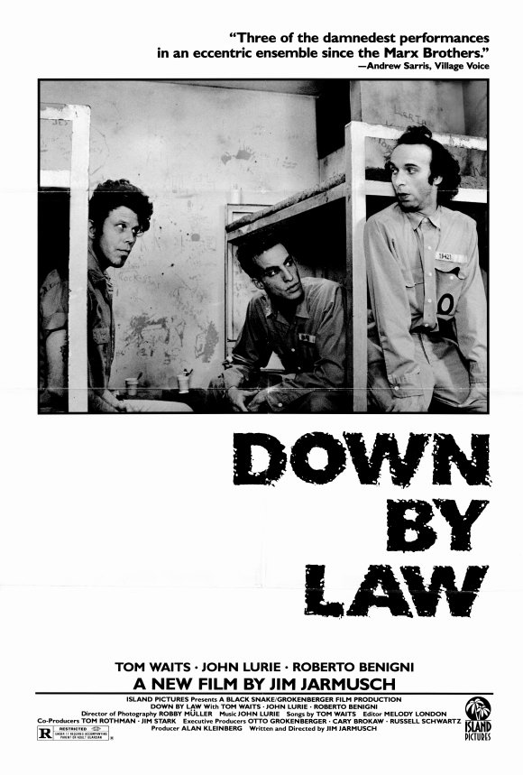 """It's not where you start - It's where you start again."" Down by Law Jim Jarmusch, 1986 Cinematography 