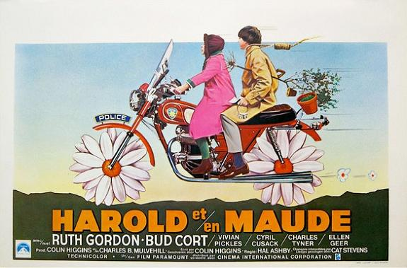 """The earth is my body; my head is in the stars."" Harold and Maude Hal Ashby, 1971.  It would not be until 2012 that Criterion was able to get this film re-issued in the quality it deserved."