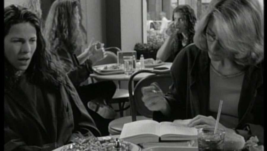 Kathleen offers ideology in the form of debate to her friend. An ideology that is not just subversive - it borders on the insane.  Lili Taylor / Edie Falco The Addiction Abel Ferrara, 1995 Cinematography | Ken Kelsch