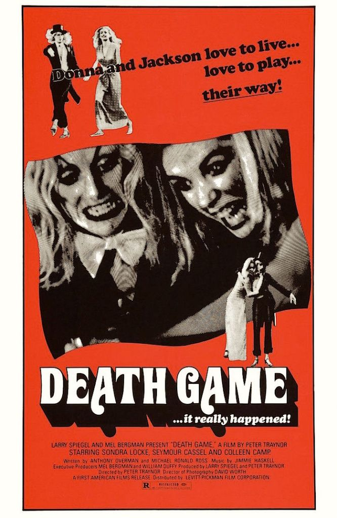 """An odd venture into """"Feminist"""" Fury is as flawed as it is interestingly brilliant.  Seymour Cassel, Sondre Locke and Colleen Camp  Death Game / The Seducers Deadly Game Peter S. Traynor, 1977/1974 Cinematography 