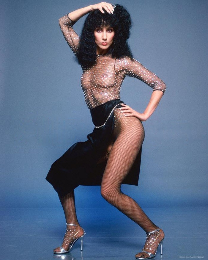 Cher Boobies by Cher Dress by Bob Mackie Photograph | Harry Langdon