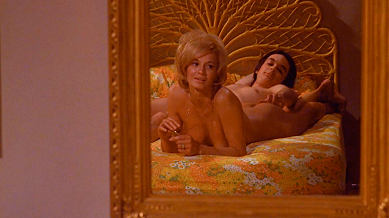 Angie Dickinson as Miss Betty Smith, well versed in grammar, murder and free sexual guidance to her more advanced students.  Pretty Maids All in a Row Roger Vadim, 1971 Cinematography | Charles Rosher Jr.