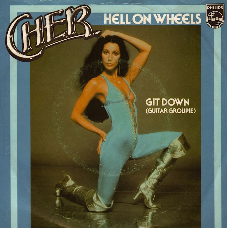 The single that failed to chart until Roller Boogie which it would help to inspire.  The Cher Factor Cher Hell On Wheels, 1979 from the Prisoner album Photograph | Harry Langdon