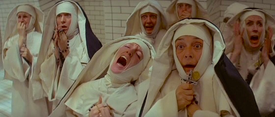 The Ursuline nuns are not there by choice, but because they form society's rejects. Repressed and Caged. They do not require too much in the way of pressure from The Catholic Church to slip into hysteria that quickly morphs into Satanic blasphemy.  The Devils Ken Russell, 1971 Cinematography | David Watkin