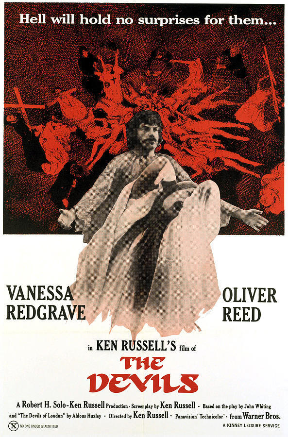 """Hell will hold no surprises for them!"" Warner Bros marketing campaign for  The Devils Ken Russell, 1971"