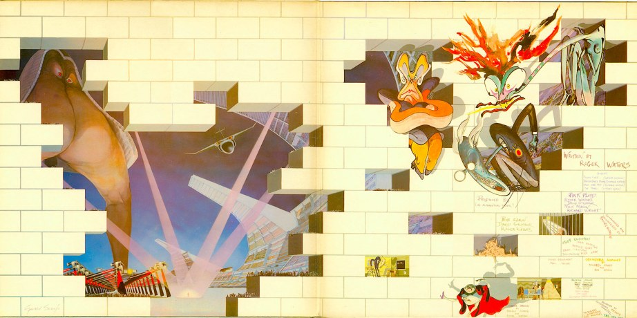Pink Floyd  The Wall | 1979 Inside Full Gate Fold Art Direction | Roger Waters Art | Gerald Scarfe