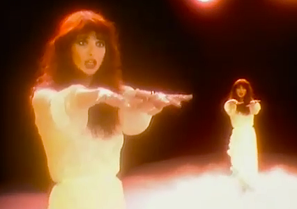 """Heathcliff, it's me, Cathy Come home! I'm so cold, let me in your window. Ooh, it gets dark, it gets lonely on the other side from you..."" Kate Bush Wuthering Heights Vid-clip, 1978"