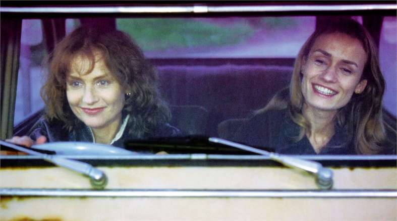 """Come on! Let's go."" Isabelle Huppert / Sandrine Bonnaire La Ceremonie Claude Chabrol, 1996 Cinematography 