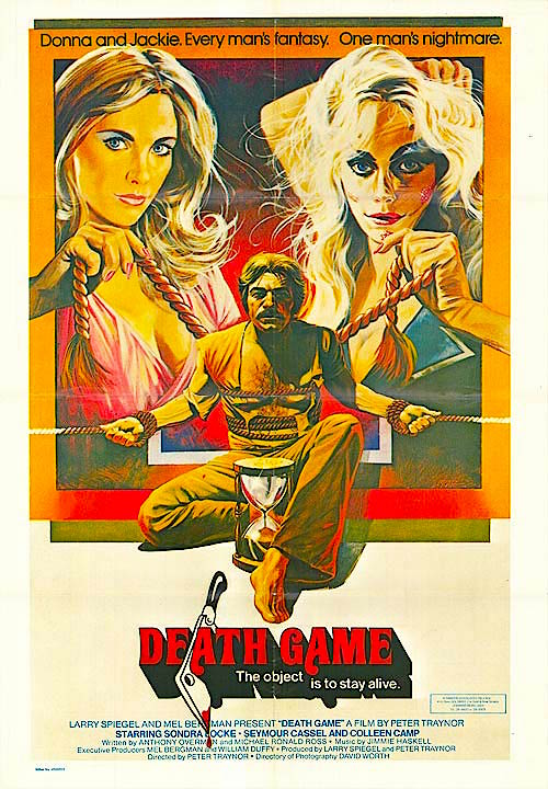 The Official 1977 Movie Poster Sondra Locke, Colleen Camp and Seymour Cassel Death Game Peter S. Traynor, 1977 Cinematography | David Worth