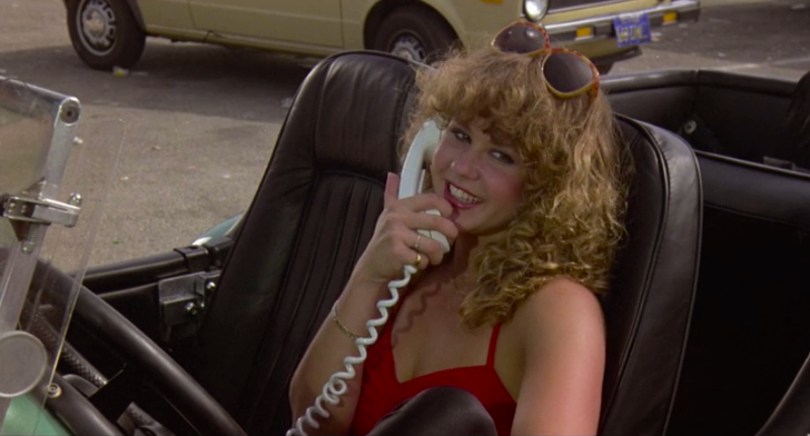 The flute can wait! I gotta learn how to disco roller skate! Linda Blair on what I believe is an early form of a cell phone attached to her fancy car. Roller Boogie Mark L. Lester, 1976 Cinematography | Dean Cundey