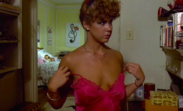 """Hmmm. Should I let it slip a little further down?"" giggles. ""NO!"" Linda Blair in her closet Roller Boogie Mark L. Lester, 1979 Cinematography 