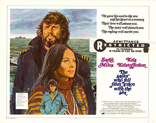 AVCO Embassy Pictures did a great deal of cutting to secure an already-pushed R-Rating The Sailor Who Fell From Grace With The Sea Lewis John Carlino, 1976 Cinematography | Douglas Slocombe