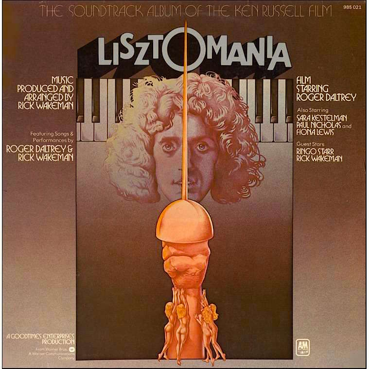 Rick Wakeman gives Liszt & Wagner the FM Prog-Rock treatment for the soundtrack of Lisztomania. A&M Records, 1975