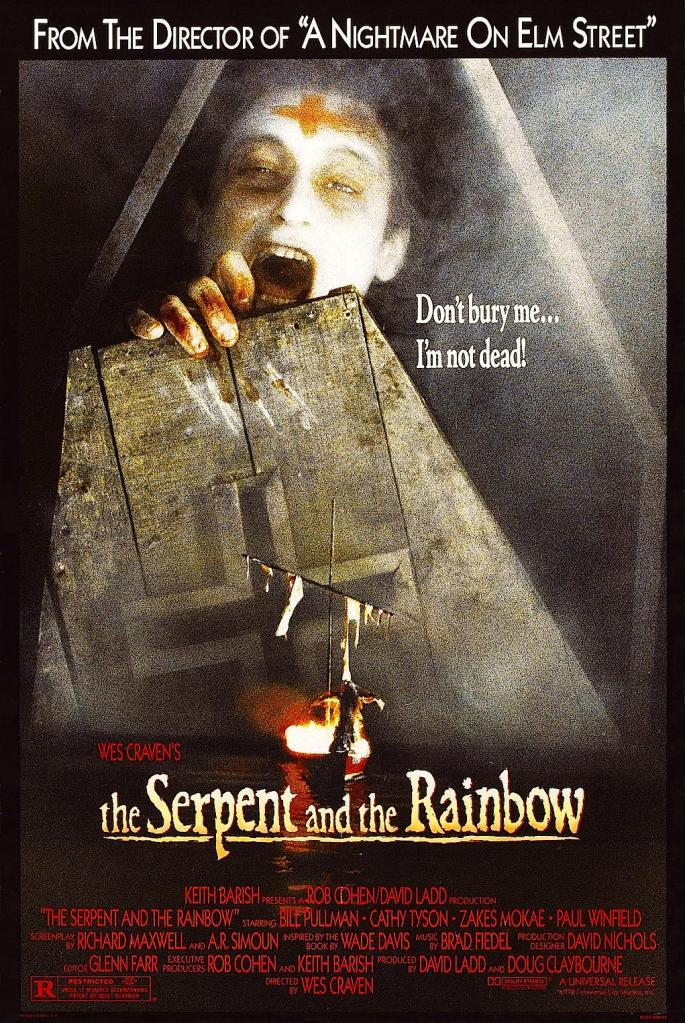 """""""There is no escape from the grave."""" The Serpent and the Rainbow Wes Craven, 1988 Cinematography 