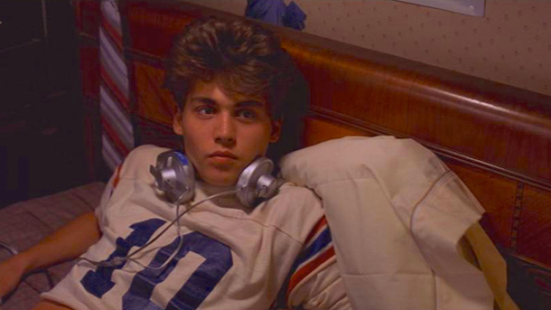 Glen just wants to chill on his bed with some music. Freddy has other plans... Johnny Depp A Nightmare on Elm Street Wes Craven, 1984 Cinematography| Jacques Haitkin