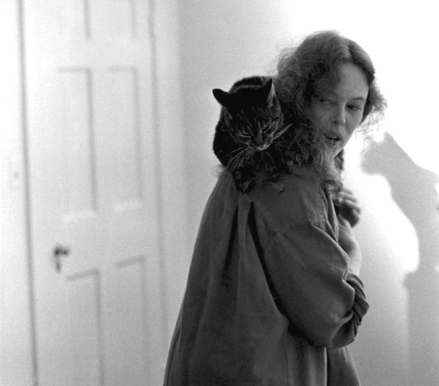 Sandy Dennis with one of her beloved cats. Sandy Dennis 1937 - 1992 RIP Photograph | © Michael Tighe, 1991