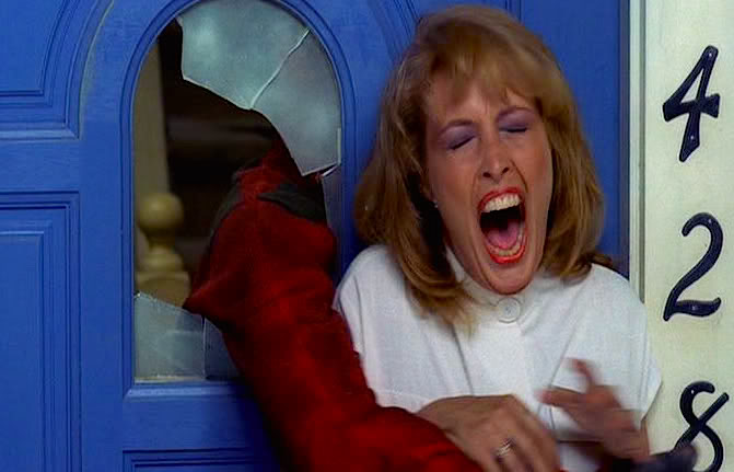 Freddy snatches up Nancy's Mom.  Ronee Blakley A Nightmare on Elm Street Wes Craven, 1984 Cinematography| Jacques Haitkin