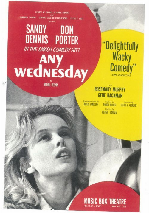 Sandy Dennis received the second of two Tony Awards for her infamous Broadway performance.   Any Wednesday , 1964
