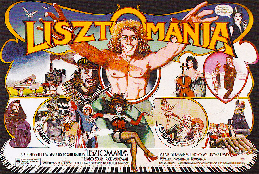 No one quiet knew what to think when Ken Russell's surrealistic absurdist comedy-rock musical opened in 1975. However a number of smart university students got in line to drop a bit of acid with their popcorn as the movie unspooled... LISZTOMANIA Ken Russell, 1975 (The UK Poster)