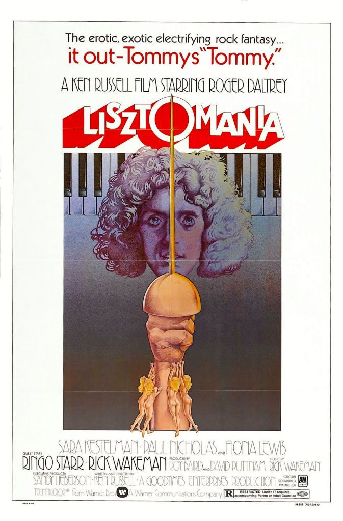 Alone, odd, wacky, profane, and rocking to it's own beat -- This odd cinematic error stands alone. Lisztomania Ken Russell, 1975 Cinematography | Peter Suschitzky (US Original Movie Poster)