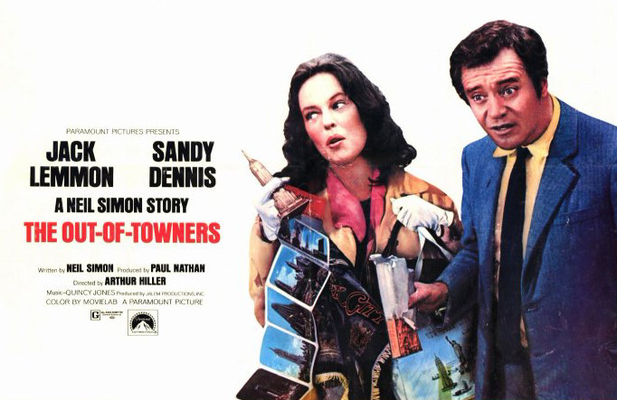 When they take you for an out-of-towner, they really take you. Sandy Dennis & Jack Lemmon The Out of Towners Arthur Hiller, 1970