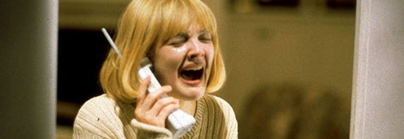 Drew Barrymore is given yet another iconic screen moment... Scream Wes Craven, 1996 Cinematography | Mark Irwin
