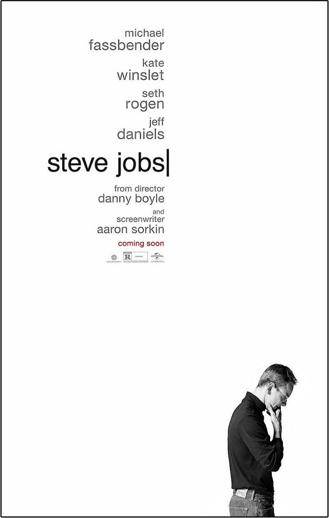 Tiny rainbow circulates as more editing goes on... Michael Fassbender IS Steve Jobs Danny Boyle, 2015