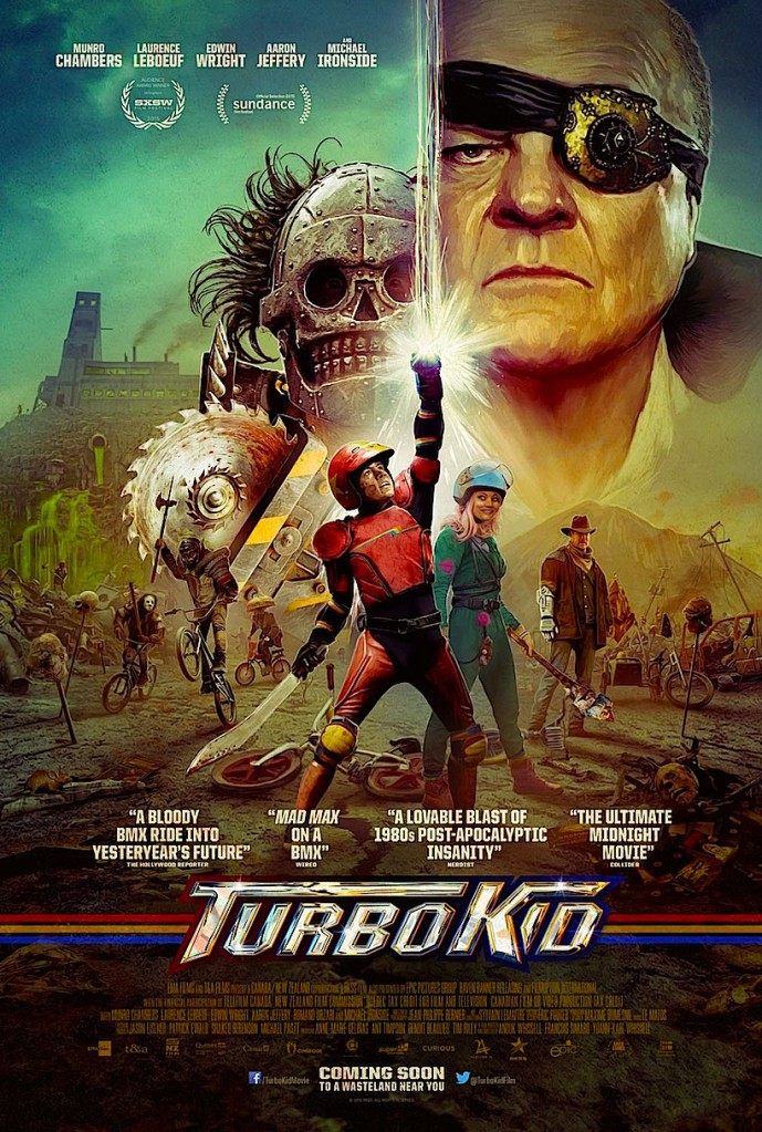 Welcome back to artistic movie posters. Grab your BMX and be a hero! TURBO KID François Simard, Anouk & Yoann-Karl Whissell, 2015